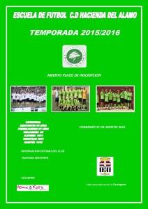 Escuela de fútbol Temporada 2015/2016